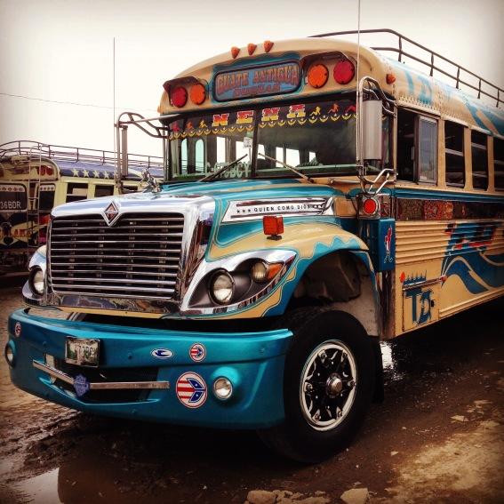 Chicken bus, Guatemala