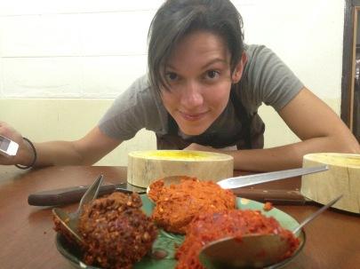 Pâtes de curry fraichement préparées
