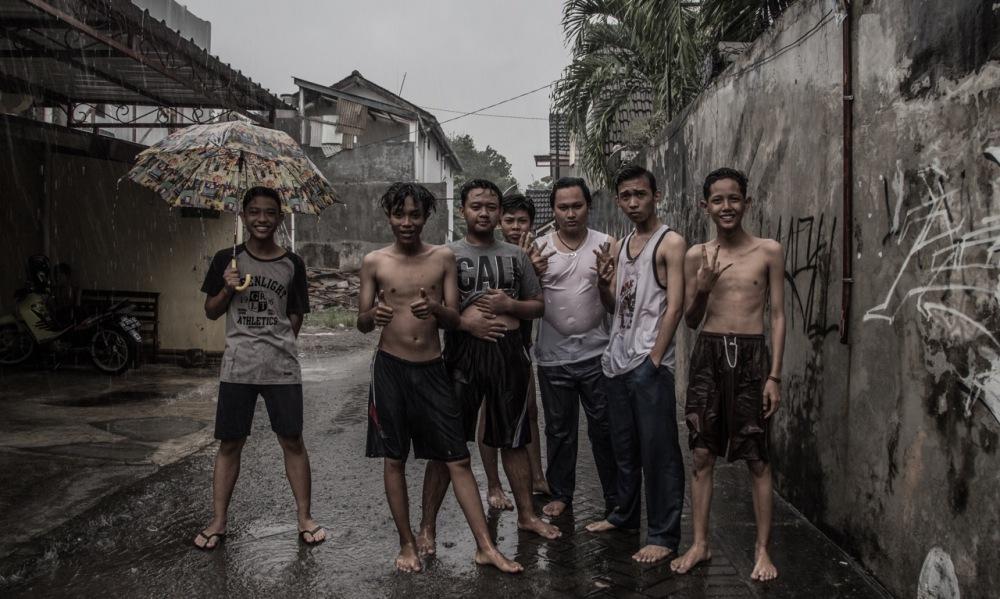 Javanais sous la Pluie
