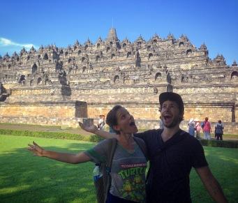 Jérôme et Éloïse au Borobudur
