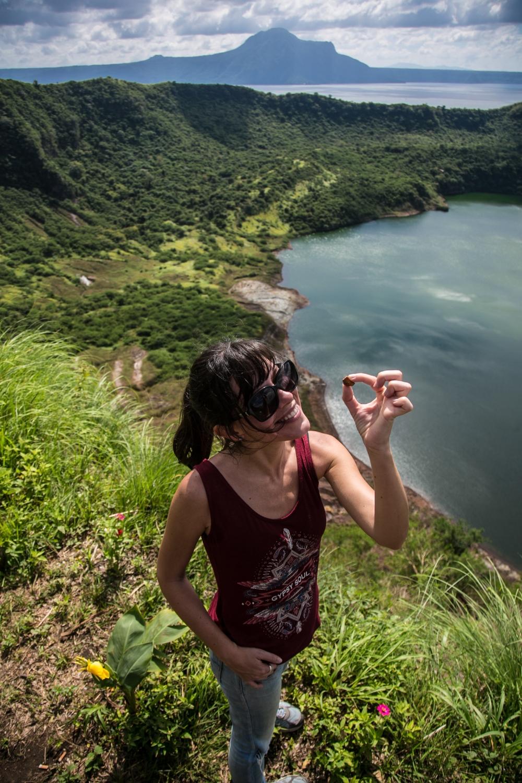 Eloise et une roche volcanique