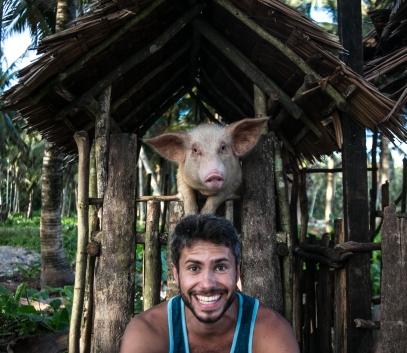 On pourrait renommer Siargao l'Ile aux Cochons! Celui-là était particulièrement attachant! Photo Eloise Boies