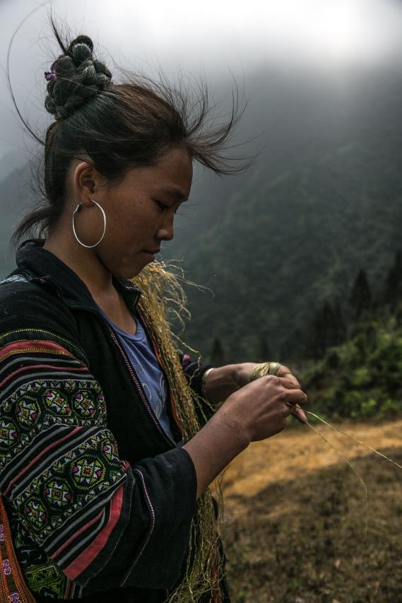 Ma, notre guide dans les montagnes autour de Sapa. Photo Jerome Hof