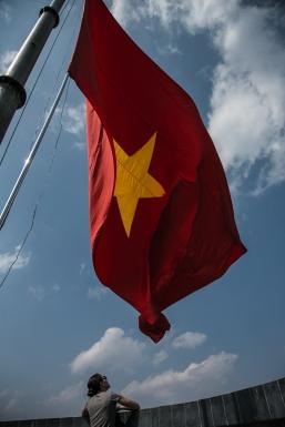 Un sacré gros drapeau vietnamien!